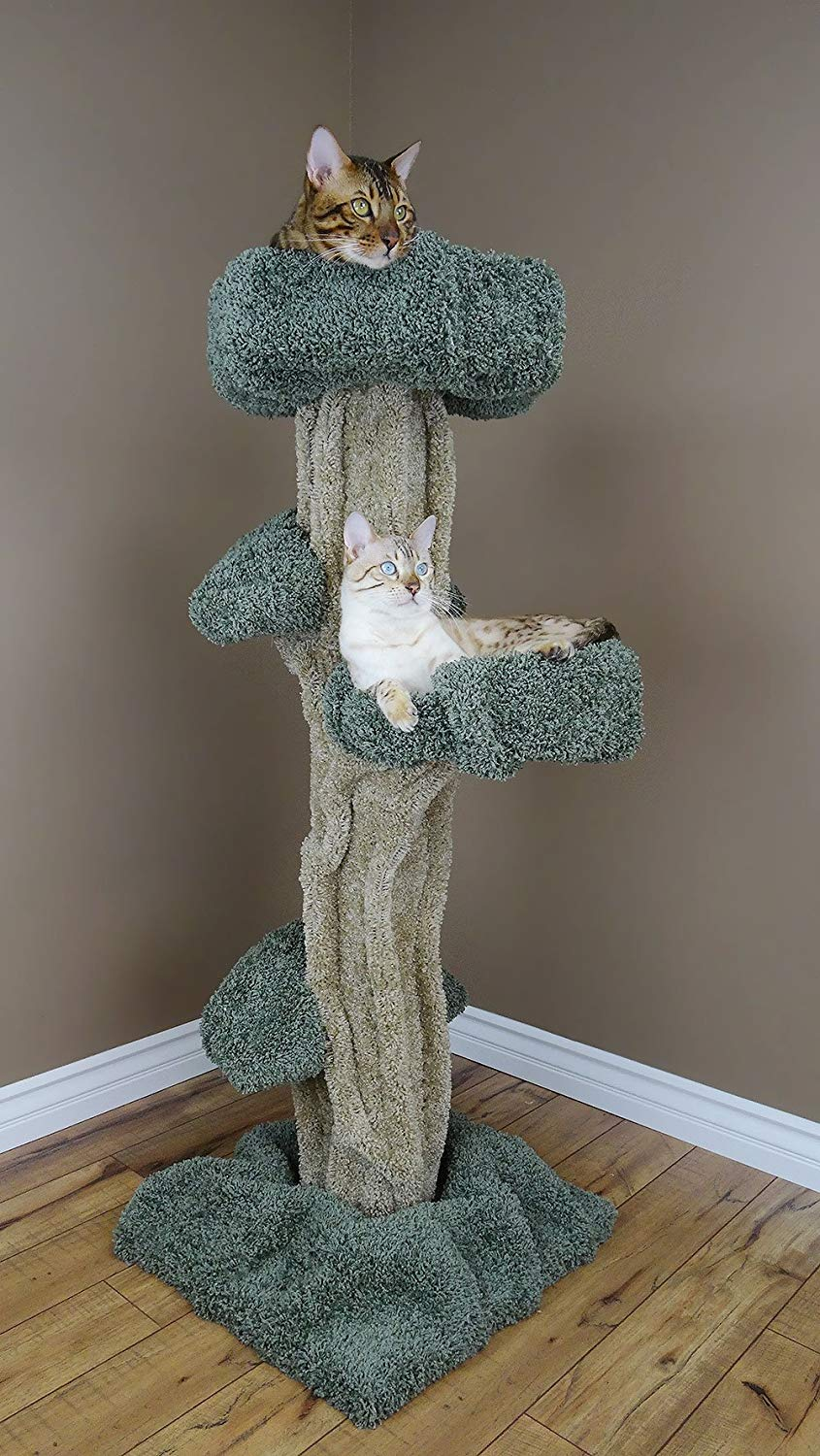 Carpeted Cat Tree That Looks Like A Real Tree