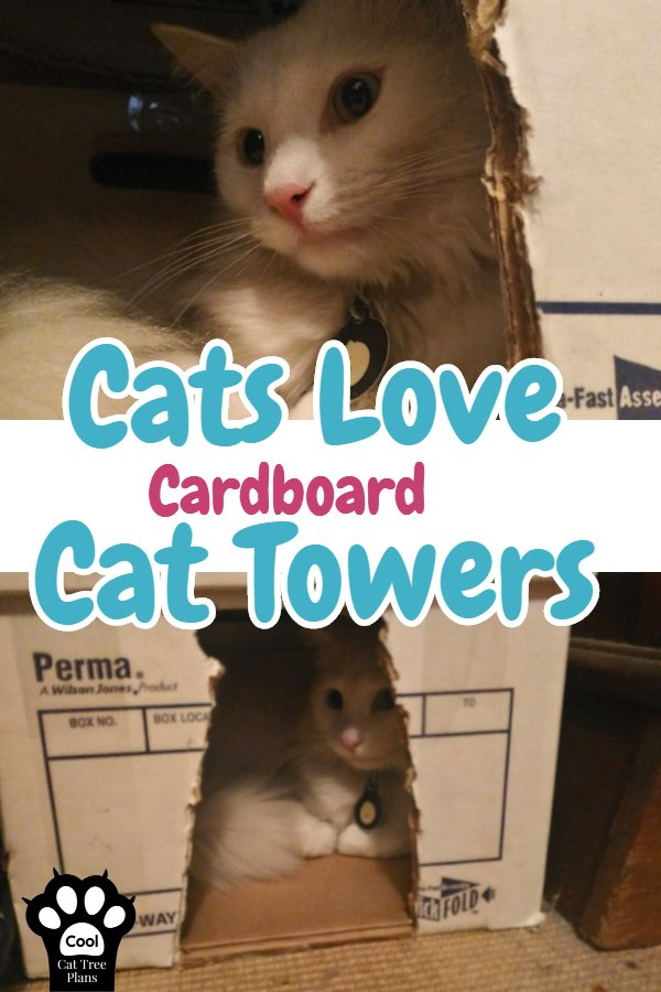 How To Make A Cat Tower Out Of Cardboard Boxes ~ Cats love to hang out in cat houses made out of cardboard.