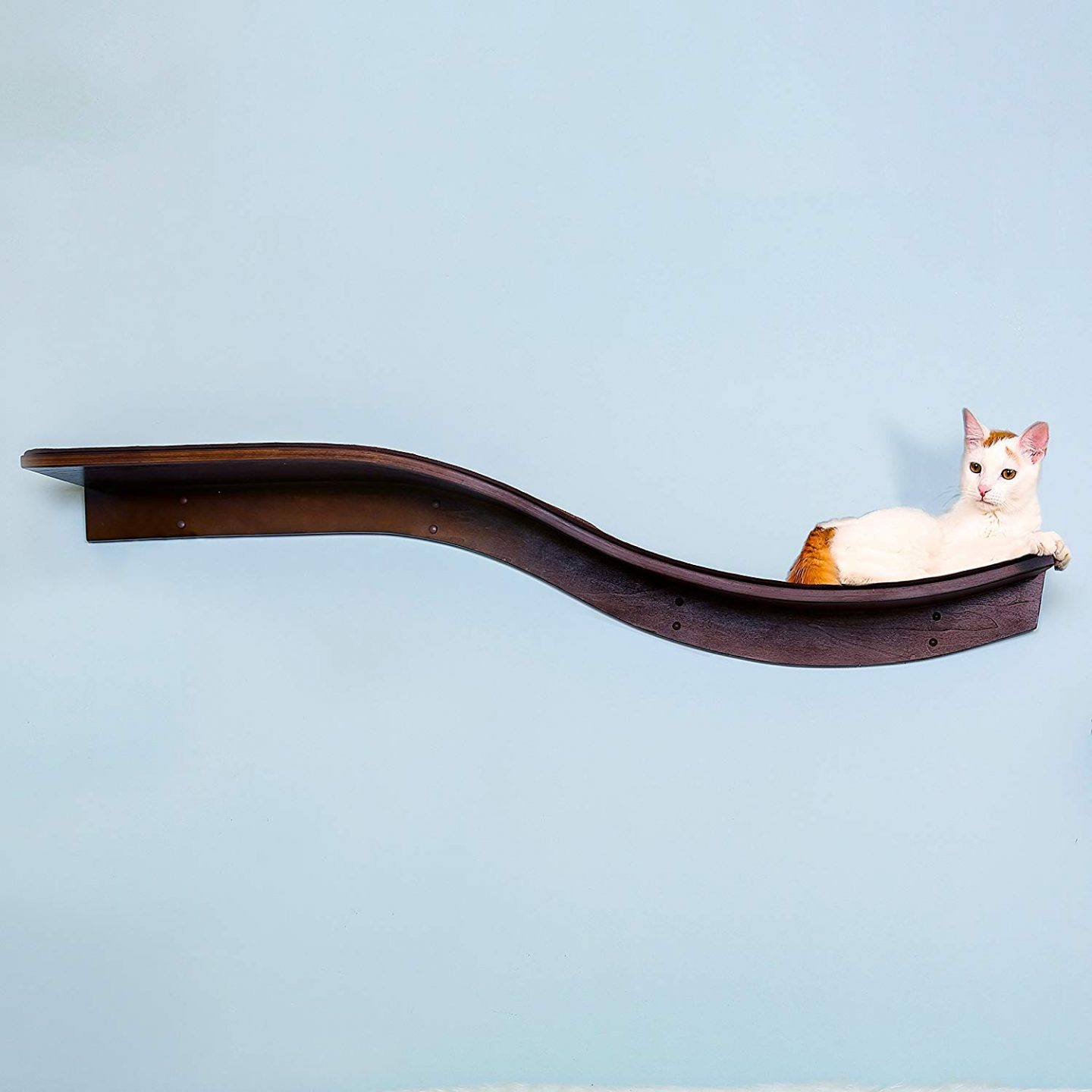 The Refined Feline's Lotus Branch Cat Shelf.  It's design is meant to go with the other pieces in this cat furniture suite.