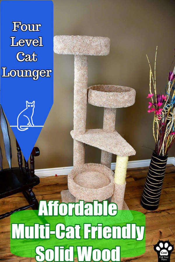 This 4-level cat lounger is perfect for multi-cat homes, homes with big cars, and if you are on a tighter budget.