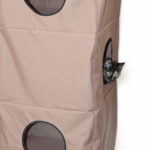 It's perfect for large and small cats alike, it takes no floor space and is a great cat tree for small spaces if your cat likes to climb and snuggle up. You could even work this in as a good cat tree for studio apartments.