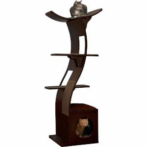 A solid wood cat tree is an investment, it'll last you and your kitty a long time and this cat tree for small spaces is no exception.