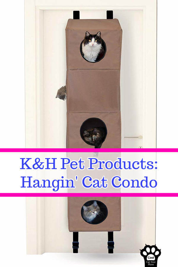 This cat tree for small spaces doesn't even take up any floor space, instead attaching to and hanging from a door.