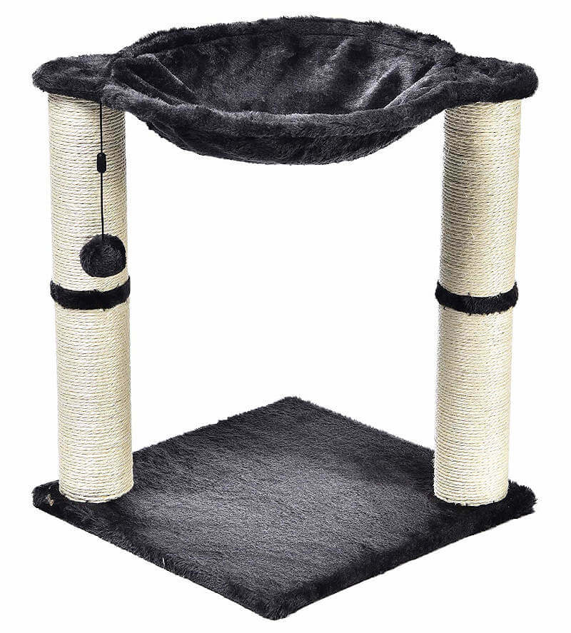 You can get a good view of the two scratching posts on this inexpensive cat tree.