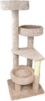 This solid wood cat tree from New Cat Condos is strong enough to handle that giant house panther of yours, or several.