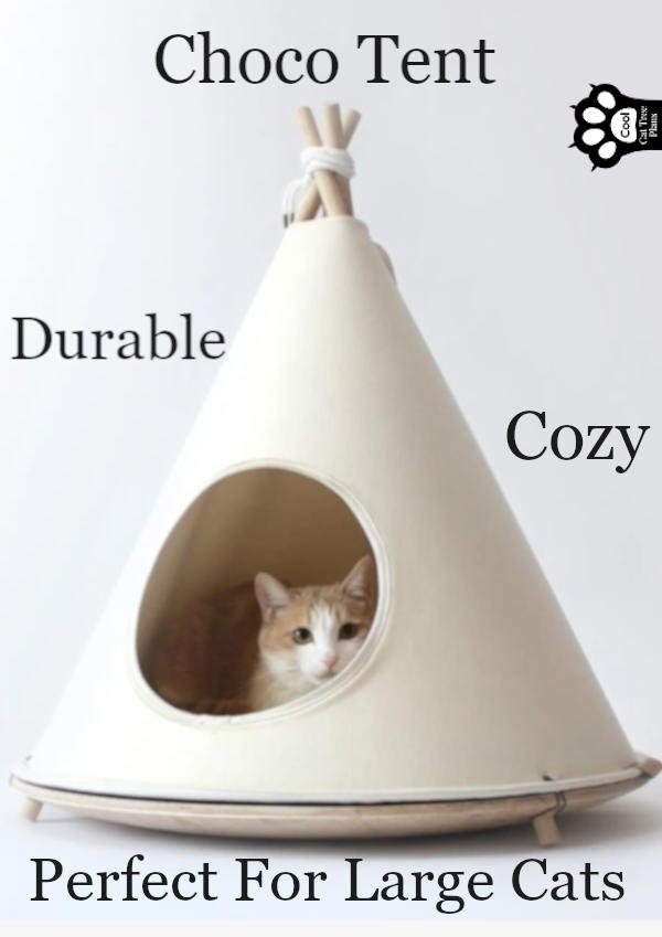 The Choco Tent is a minimalist, high quality version of all those cute cat tents you see floating around online (and sometimes in stores).  It's modern, sleek and even large cats can fit in it and get comfy.