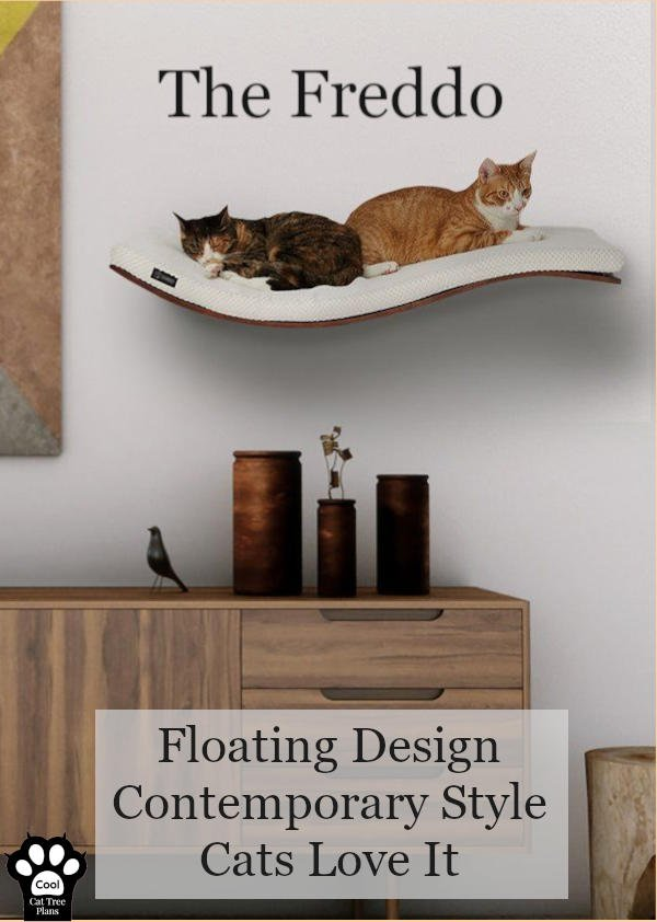 The Freddo is a modern, minimalist cat shelf from Tuft + Paw that really aims to be minimalist, yet comfortable for your large cats.