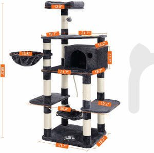 The exact dimensions of this Feandrea cat tree.