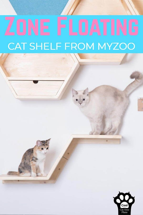 The Zone floating cat shelf from MyZoo is a beautiful, sleek and minimalist cat shelving system designed to give your kitties a happy place to sit or an easy step up to even bigger and more elaborate shelves!