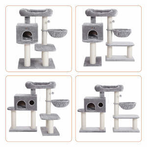 All the different ways you can customize and adjust this cat tree for older cats.