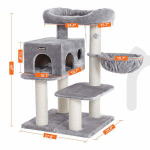 The specific dimensions for this cat tree.