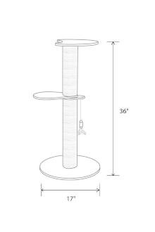 The specific dimensions for the Marvin luxury cat tree from Tuft + Paw.