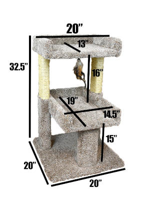 The exact dimensions for this cat tree.